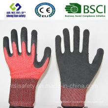 Gant de sécurité résistant à la coupe avec des gants de sécurité en mousse Latex Coated