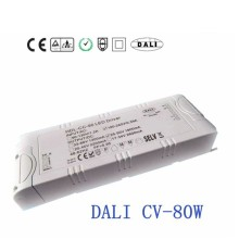 80W DALI dimmable led driver entrée ca