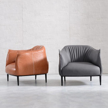 Elegant Armchair Leather Single Seater Lounge Sofa