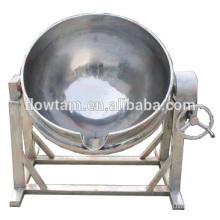 Bouilloires de cuisine à vapeur à double fourche en acier inoxydable avec agitateur