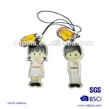Kundenspezifische Förderung Metalldrucke Paar Telefon Strap