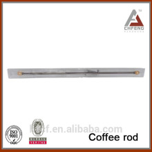 top design colorful ball coffee rod, flexible shower curtain rod, spring telescopic coffee rod