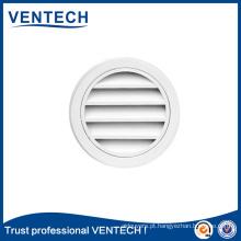 Grelha redonda impermeável Ventech para uso em ventilação