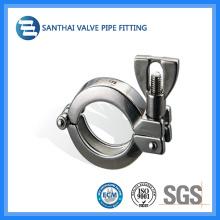 Accesorio de la abrazadera del tubo del solo Pin del acero inoxidable sanitario (13MHH)