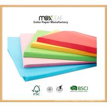 Papel de cores sortidas de tamanho A4 de 80GSM A4 (CMP-A4-50TM-80G)