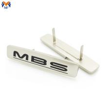 Logo personalizado de metal para bolso