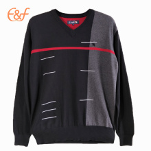 Men Fashion Pullover V Neck Sweater Knitting Pattern