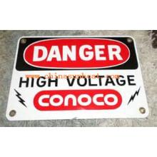 Sunboat Enamelware Derocation Porcelain Sign/Enamel Warning Sign