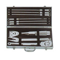 Set da barbecue da 11 pz con custodia in alluminio