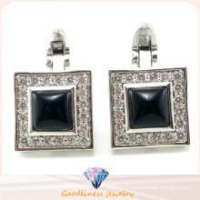 Men′s Fashion Jewelry Charm 925 Sterling Silver Jewelry Cufflink (A11C001)