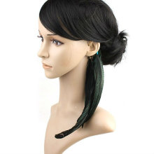 Woman's Ear Cuff Natural Feather Earrings Jewelry Ear Clip FEA52