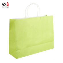 Lightweight with twist paper handle shopping bag