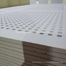 4'*8' Звукоизолированные Изолированные Перфорированные Гипсокартонные Плиты С Квадратными Отверстиями Для Офиса