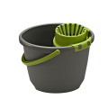 Household Single Magic Mop Folding Plastic Floor Cleaning Mop Bucket