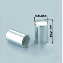 Couvercles de bouchons en aluminium argent brillant de parfum personnalisé FEA15