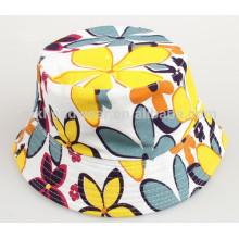Unisex Kids Sun Hats Wholesale Floral Printing Bucket Hats