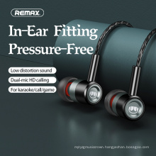 Remax Join Us   RM-598 Lossless sound quality Bass Noise Reduction Headphones Metal Wired Earphones 3.5Mm