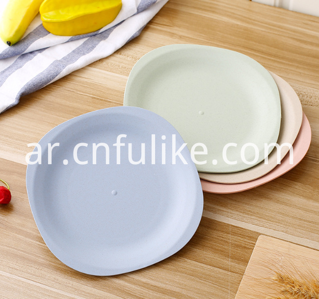 Wheat Straw Plastic Plates