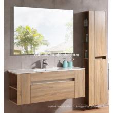Meuble-lavabo chinois moderne imperméable à l'eau de mélamine de finition de salle de bains avec le coffret latéral