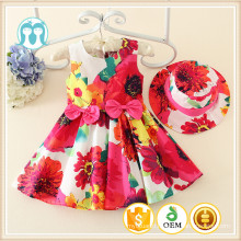 2015 latest girls casual dress baby tiny dress for 1-5 years, Kids Wholesale dresses, kids colourful floral garments