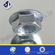 Tuerca de brida hexagonal de acero al carbono DIN 934