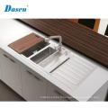 Éviers faits sur commande de cuisine de drain de l'électrode d'acier inoxydable de double cuvette de taille faite sur commande
