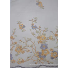 100% Polyester Fashion Design Embroidery Mesh Fabric