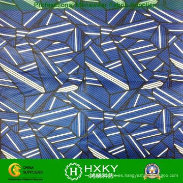 Diseño geométrico con tela de chifón de poliéster estampada para mujer