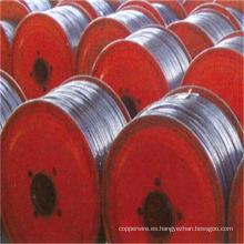 Alambre de acero revestido de aluminio del conductor de arriba inoxidable como en tambor de madera