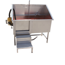 cheaper price Stainless steel pet pedal bath sink with hair drier machine and movable door