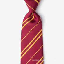 Laço 100% de seda feito a mão da gravata do pescoço da listra de seda