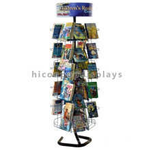 Stationery Store Wire Rack Holder Custom Freestanding Merchandising Kids Card Comic Book Display Rack