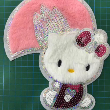 Smiling Rabbit Embroidery Patch Für Kleidung