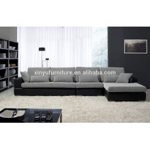 Leather cover and fabric living room sofa KW352