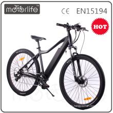 MOTORLIFE / OEM marque EN15194 CE prouvé 2017 nouveau vélo de montagne électrique