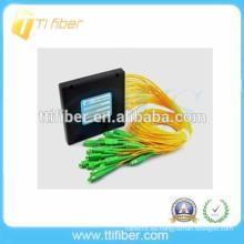 16 vías Caja de plástico SC / APC PLC divisor de fibra óptica