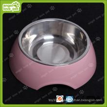 Мода Дизайн Меламин Чаша с нержавеющей стали собака Чаша (HN-PB939)