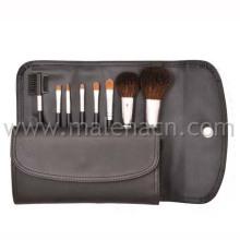 Escova da composição 8PCS com saco cosmético preto