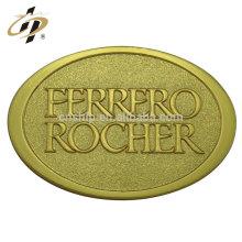 Insigne vrac en plaqué or avec logo en plaqué or avec support en porcelaine