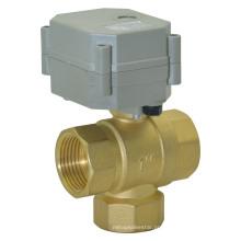 """Válvula de controle elétrica de bronze 3way 3/4 """"(T25-B3-C)"""