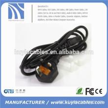 Câble d'alimentation 3 broches en UK Câble d'alimentation IEC BS Câble USB sans fil C13 Câble 1,5 m, 1,8 m