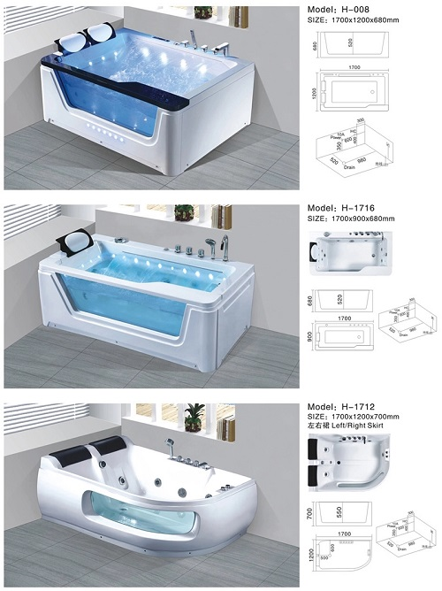 Free Standing Bathroom Massage Whirlpool athtub Bath Tub