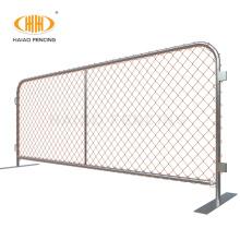 Chain link wire galvanized crowd control barrier