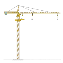 100m Height 5 Ton Tower Crane