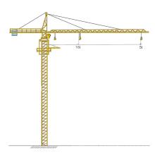 Grue à tour de 5 tonnes de hauteur 100m