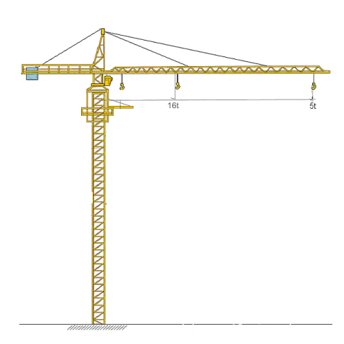 Tower Crane Tinggi 100m 5 Ton