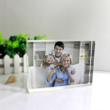 Εξατομικευμένο Clear Acrylic Block Photo Frame