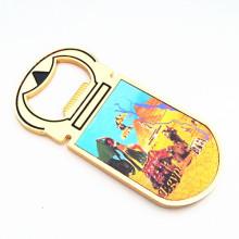 Souvenir Craft Aimant de l'aimant de couleur d'or avec ouvre-bouteille (F5029)