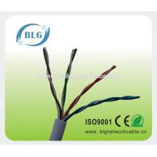 Venta de la fábrica 4pr el mejor precio cable del utp cat5e para el interruptor
