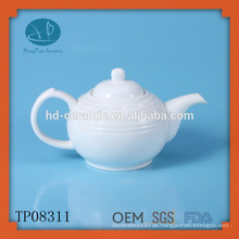 Weiße Porzellan-Teekanne 680ml, Keramik-Teekanne
